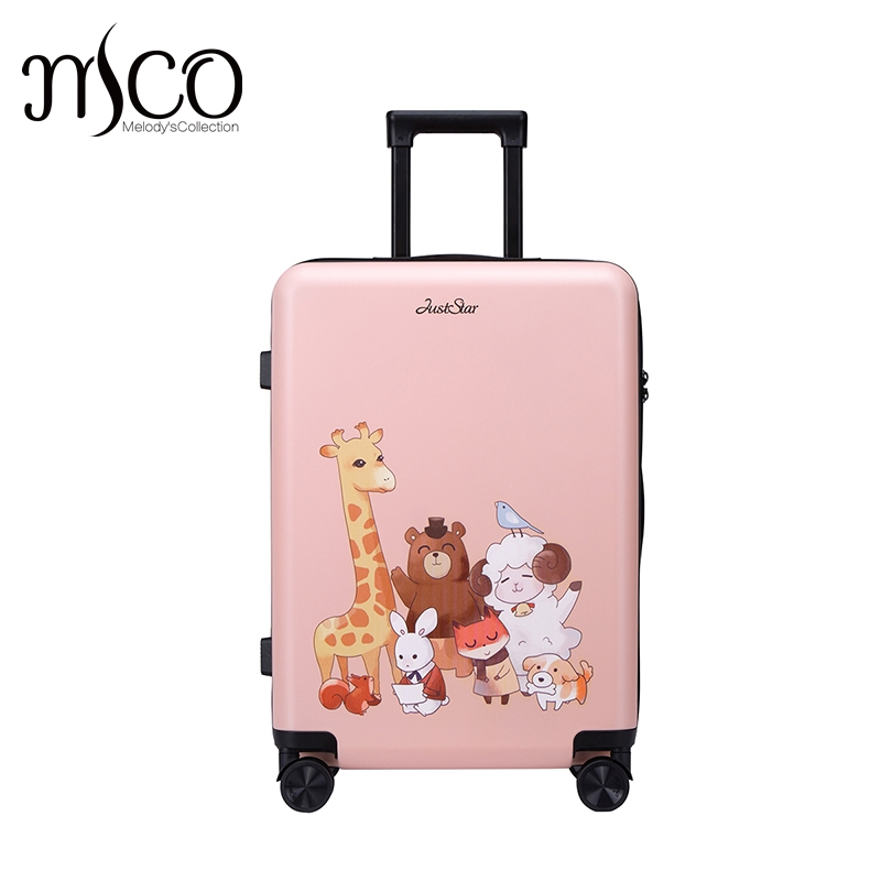20 inch Carry On Size TAS Lock Animal Printing Women luggage Girls Rolling Luggage Bags Trolley Travel Boarding case Luggages