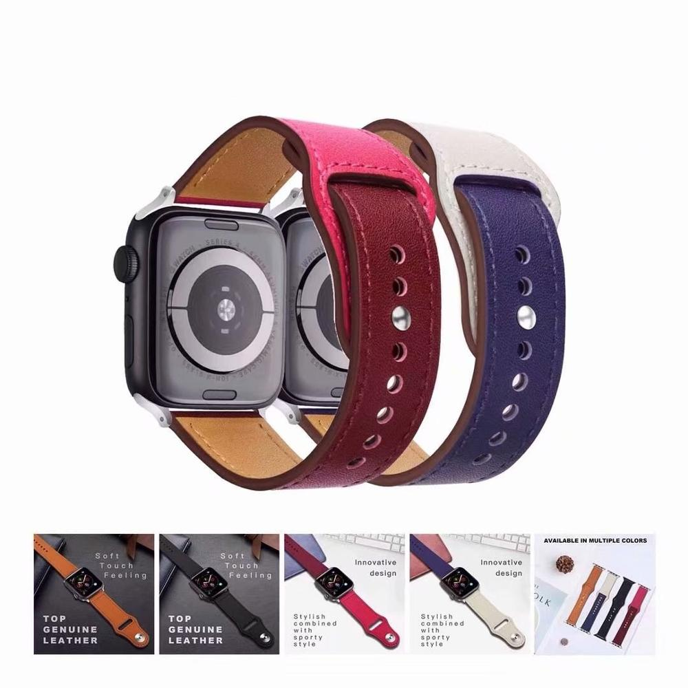 44mm 40mm Genuine Leather Loop Strap For Apple Watch 4 Band 42mm 38mm Sport Replacement Bracelet Watchband For iWatch 3/2/144mm 40mm Genuine Leather Loop Strap For Apple Watch 4 Band 42mm 38mm Sport Replacement Bracelet Watchband For iWatch 3/2/1
