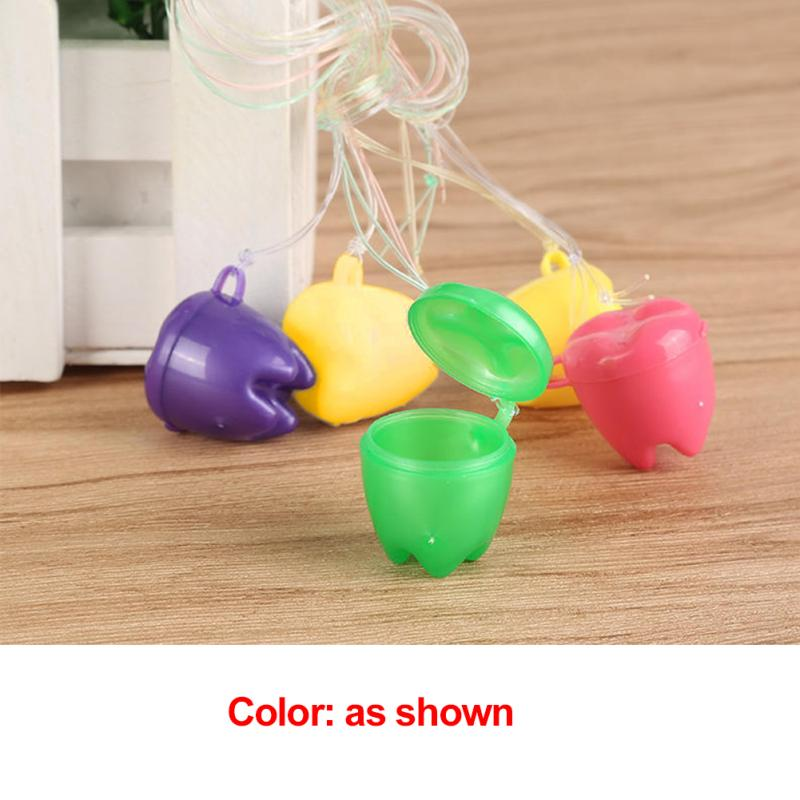 Colorful Baby Teeth Milk Teeth Box False Tooth Case Denture Baby Teeth Box
