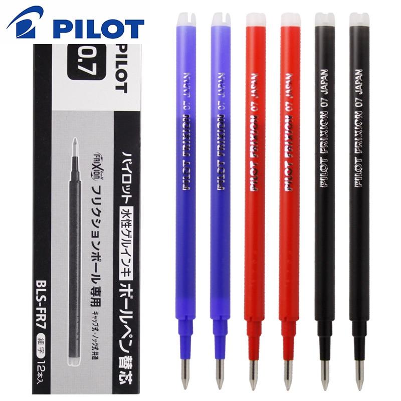5/7/9/20 Pcs/Lot japon pilote BLS-FR7 effaçable stylo recharge Friction recharge 0.7mm balle tête