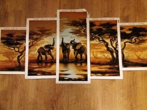Image 5 - landscape nature house 5d diy diamond painting 5pcs cross stitch full beads diamond embroidery mosaic pattern new pictures sale