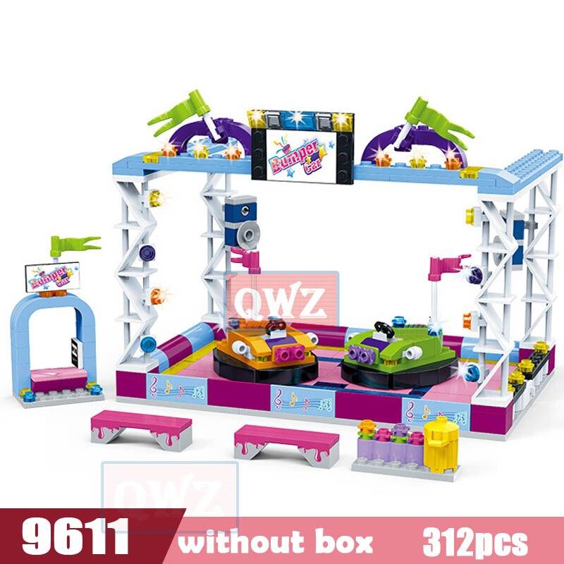Legoes город девушка друзья большой сад вилла модель строительные блоки кирпич техника Playmobil игрушки для детей Подарки - Цвет: 9611 without box