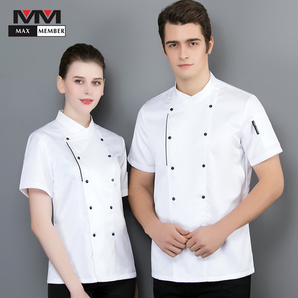 Cooks Kitchen Colors Chef Uniforms Clothing Female Restaurant Ladies Summer Short Sleeve Breathable Uniform Chefwear