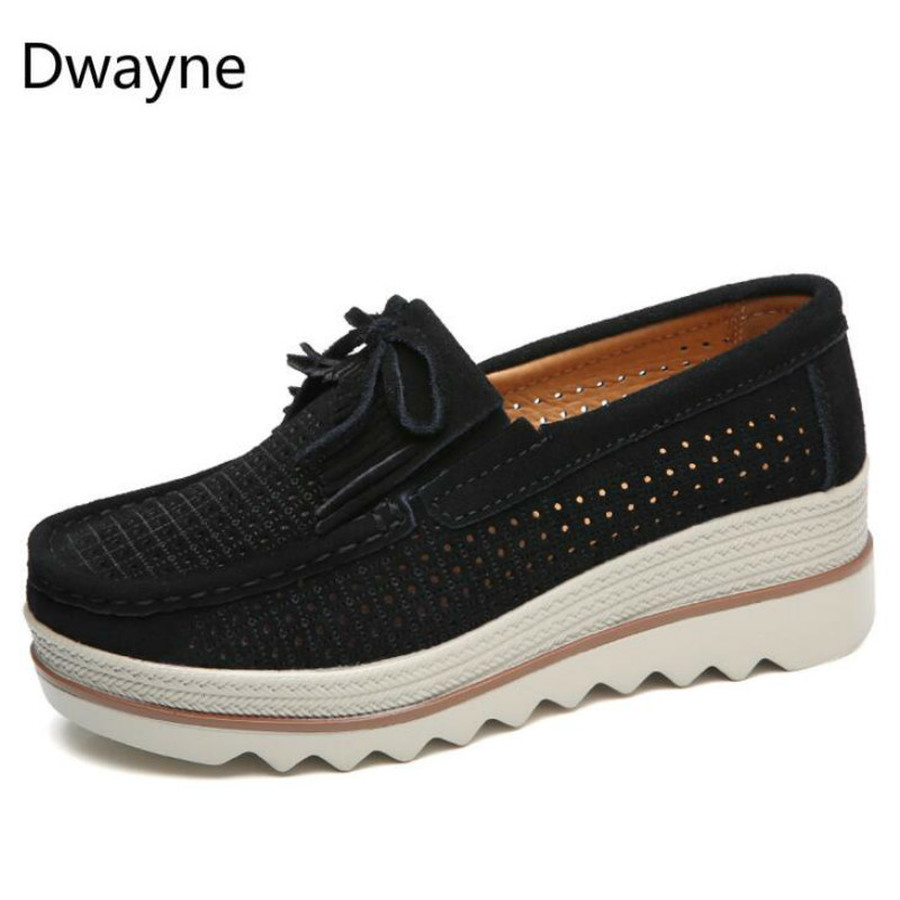 Image 5 - Dwayne Women Flats Platform Loafers Ladies Elegant Genuine Leather Moccasins Shoes Woman Autumn Slip On Casual Women's Shoes-in Women's Flats from Shoes