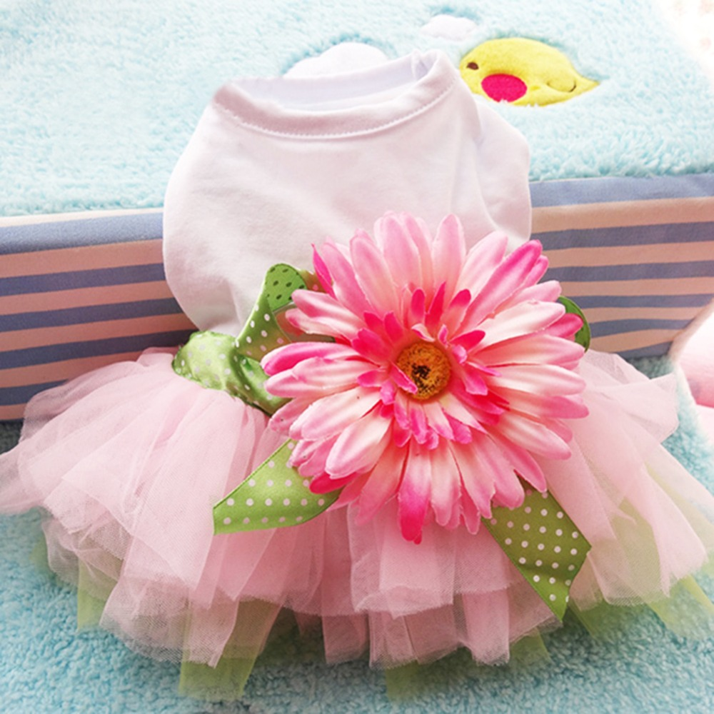 Summer <font><b>Dog</b></font> Clothes for <font><b>Dog</b></font> <font><b>Dress</b></font> Tutu Pet Puppy Clothes Cat Skirt <font><b>Wedding</b></font> <font><b>Dresses</b></font> Pet Apparel Ropa de Cachorro image