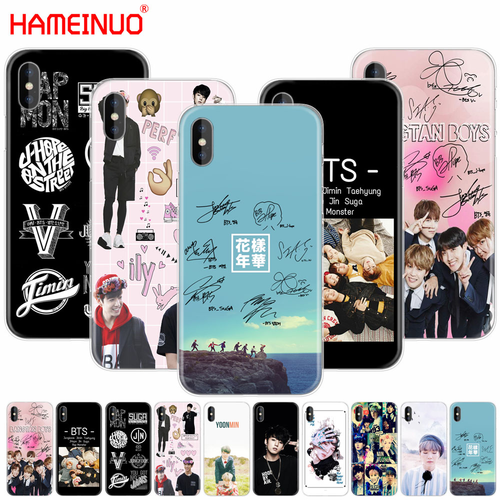 HAMEINUO BTS Bangtan Boys JUNG KOOK V SUGA cell phone Cover case for iphone 6 4 4s 5 5s SE 5c 6