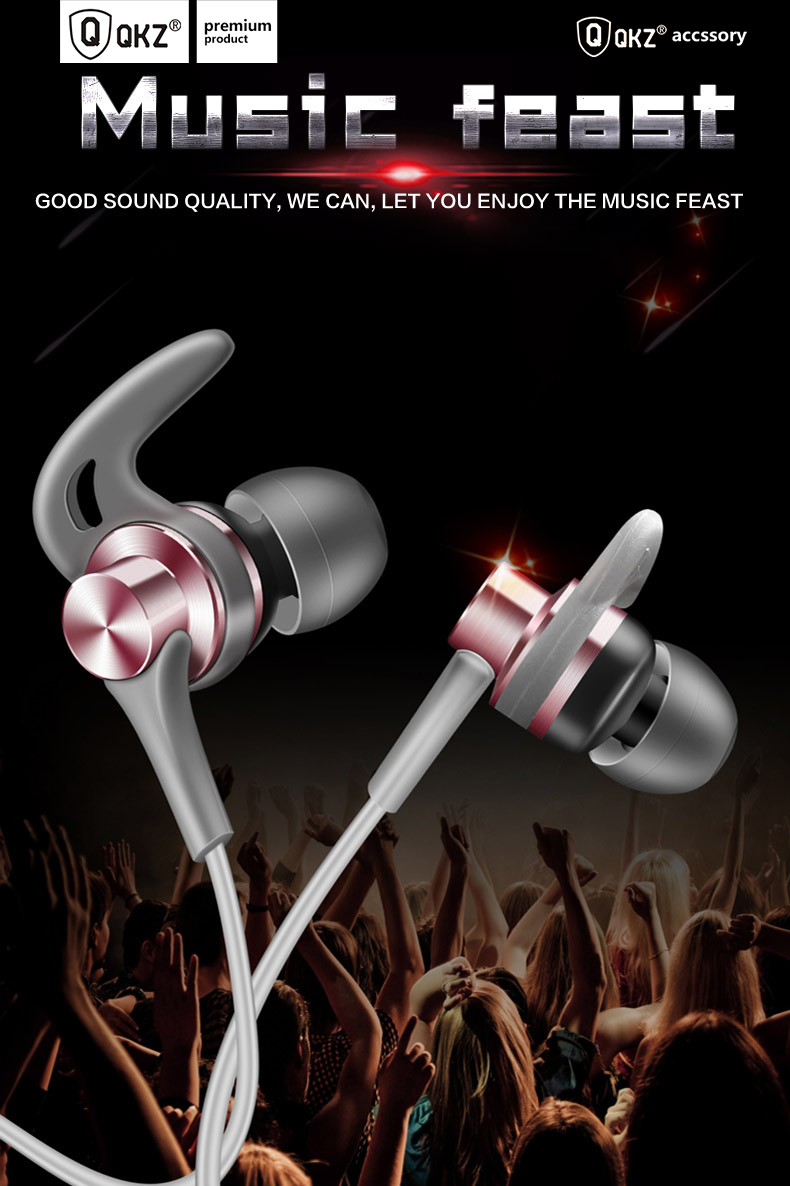 Earphone Qkz Eq1 Fone De Ouvido Headset Auriculares Audifonos In Ear Vk2 Grey Silicone Muffs And Tail Pipe Connection With Oblique Angle Design Comfortable Easy To Wear It Has High Quality Sound Enjoy Your Life