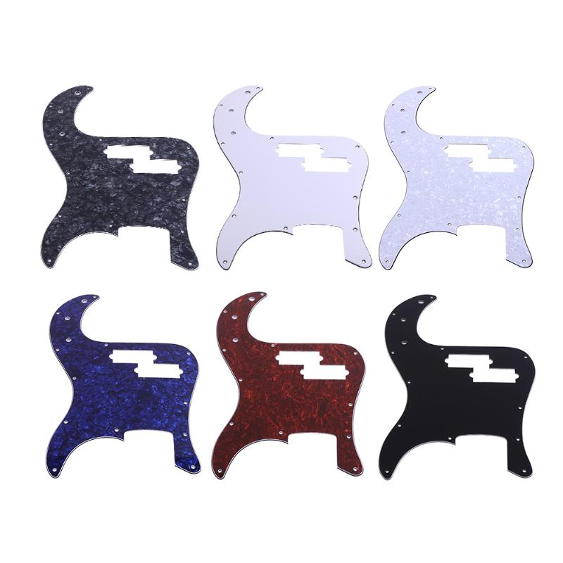 3ply Pearl Scratch Plate Pickguard Pick Guards for Electric Bass Guitar Musical Instrument Guitar Parts Accessories 6 Colors zebra black mirror p bass electric guitar pickguard pb scratch plate for ukulele musical stringed instruments parts