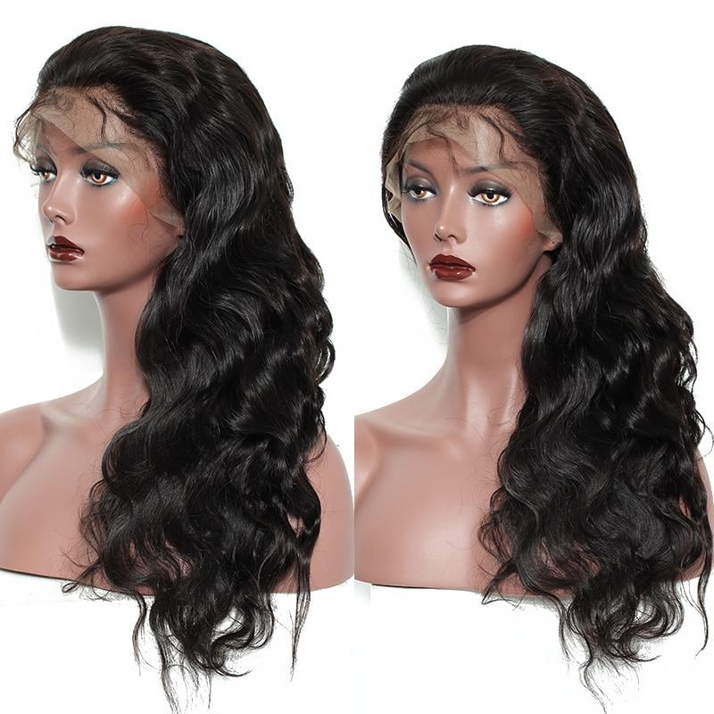 Pre-Plucked glueless täis pits inimese juuksed parukad naiste beebi - Inimeste juuksed (must) - Foto 5