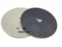 цена на 7 Inch 180mm Granite Marble Concrete Ceramic Diamond Polishing Pads Wet Dry Use