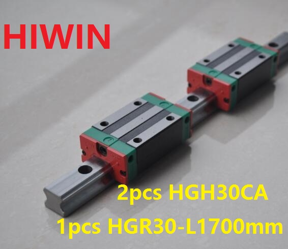 1pcs 100% original Hiwin linear guide rail HGR30 -L 1700mm + 2pcs HGH30CA linear narrow block for cnc router 1pcs 100% original hiwin linear guide hgr30 l 300mm 1pcs hgh30ca narrow block for cnc router