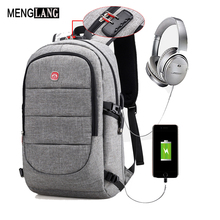Фотография 15.6 Inch Laptop Anti-theft Men Backpack With USB Charging Headphone Interface Port Lock Business Waterproof For Work Women