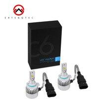 C6 Series All In One LED Headlight Plug Bulbs 4pcs COB LED Chip 6000K 36W Per