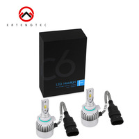 C6 Series All In One LED Headlight Plug Bulbs 4pcs COB LED Chip 6000K 36W Per