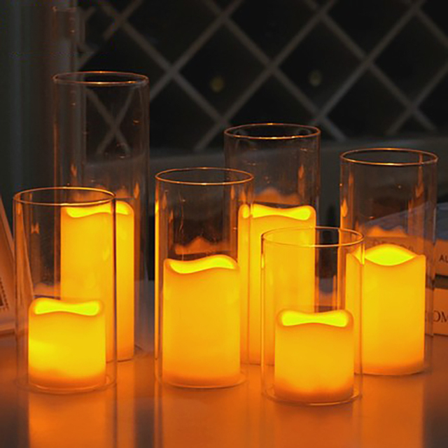 Romantic Wedding Led Electronics Candle Lamp Bougies Mariage Velas Wax  Decorative Flameless Making Candles Home Decor