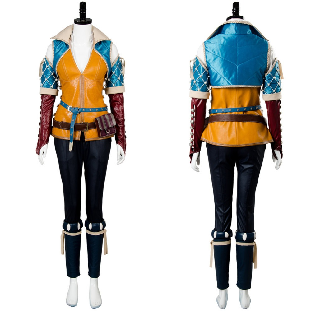 The Witcher 3:Wild Hunt Triss Merigold Cosplay Costume For Adult Women Men For Halloween Carnival Full Sets