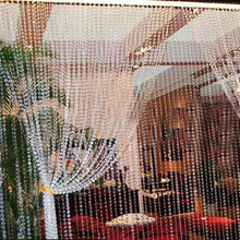 30M Beads Curtains Acrylic Crystal Curtain Octagonal Bead Curtains on the Door Festive Party Indoor Home Wedding Decoration cheap Modern Bead Rope Perspective Flat Window Ceiling Installation Left and Right Biparting Open Included Cafe Home Solid VKTECH