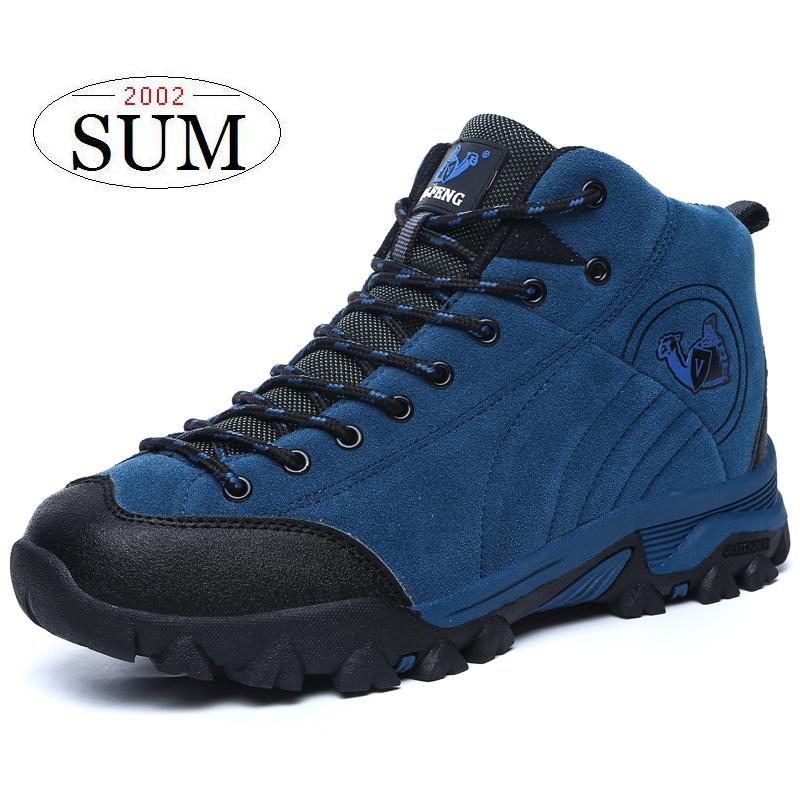 SUM new arrival autumn and winter outdoor trekking boots for men woman  ankle boots brand sneakers men hiking boots female -in Hiking Shoes from  Sports ... 7e9d2aa0c