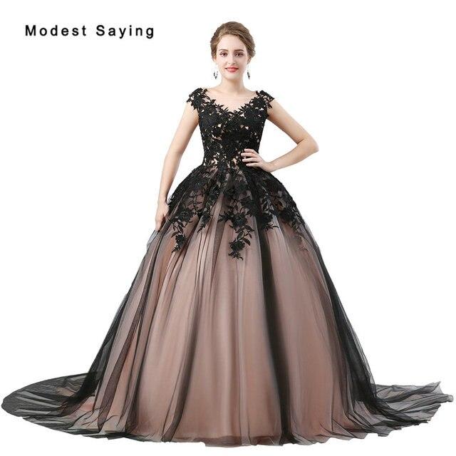 Gothic Style Ball Gown Lace Wedding Dresses 2018 Formal Women Witch Applique  Beaded Bridal Gowns vestidos de noivas Custom Made 94e368d4ea5e