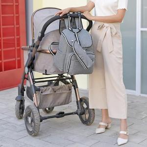 Image 3 - Bolsa de pañales para bebés recién nacidos con carga USB, mochila momia impermeable, bolso portátil, bolsa de maternidad para el cuidado del bebé