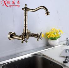 100% Меди циркония оптовая золото кухонный кран в стену кран овощи раковина бассейна Золотой водопроводной воды бесплатная доставка