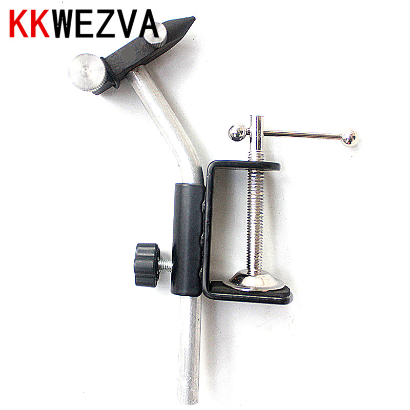 KKWEZVA Mini Fly Tying Vise Clamp Steel Hard Jaws Table Vise of Fly Tying Tools kit Making Fly Fishing Tools Vice free shipping aluminum alloy table vice mini bench vise diy tools swivel lock clamp vice craft jewelry hobby vise jaw width 40mm