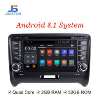 JDASTON Android 8.1 Car DVD Player For Audi TT 2006 2012 2Din Radio Car Multimedia Player GPS Navigation Stereo Autoaudio IPS