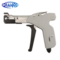Stainless Steel Cable Self locking Tie Gun plier width 8mm thick 0.3mm metal cable tie shear tensioner strapping gun lifting