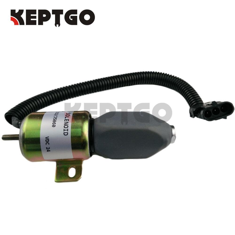 332/J5060 Stop Solenoid for JCB JS130 JS160 JS180 JS240 Stopper Motor 24V