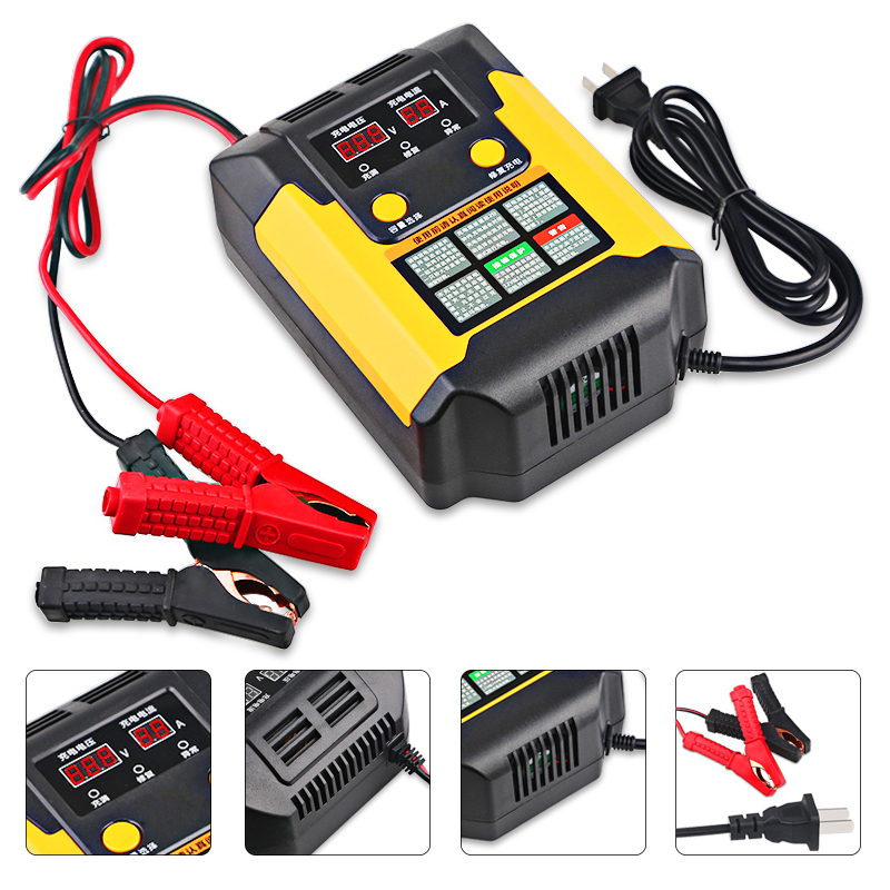 Urbanroad Full automatic Intelligent Motorcycle Battery Charger For Car Boat Smart Car Battery Charger 12v Lead Acid Battery