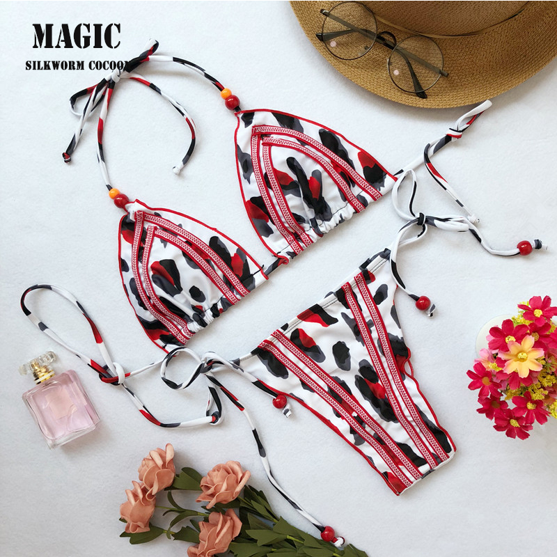 New High Waist Thong Bathing Suit High Cut Swimsuit Sexy Dot Print Swimwear Women Brazilian Biquini Swim Beach Micro Bikini Set