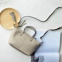 Avrupa Sokak bölüm ithalat kafa katman dana basit moda köfte saçaklı çanta deri çanta
