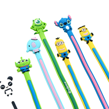 2PC random hair Cartoon Earphone Cable Wire Cord Organizer Winder for Phone Tablet MP3 Computer Headphone winding thread tool
