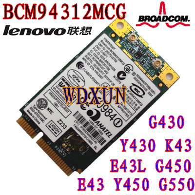 Broadcom BCM4312 BCM94312 Wireless Network Card For DELL ASUS ACER SONY Lenovo G430 G450 Y430 Y450 E43 E43L K43
