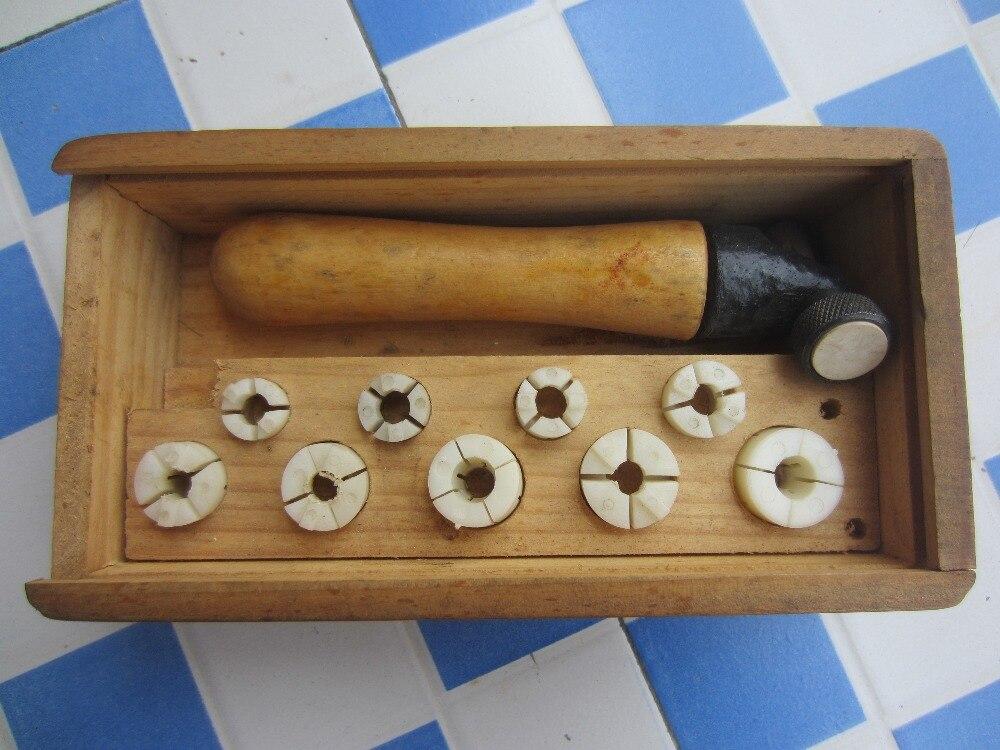 Livraison gratuite or argent métal anneau clamp holder brucelles tong avec 9 pinces de setter, réglage de bijoux outil de prise de