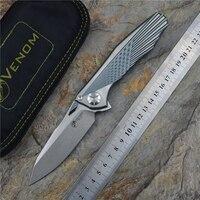 Kevin John VENOM 4 Wing Flipper zakmes S35VN blade Een Titanium handvat camping jacht survival zakmessen EDC gereedschap