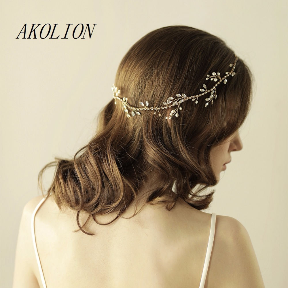 akolion gold crystals headpiece