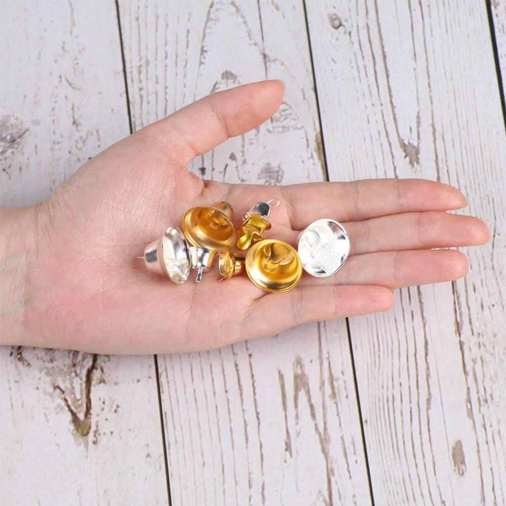 5000 шт. маленькие колокольчики для рукоделия, мини колокольчики, Золотые Серебряные подвесные металлические колокольчики, Свадебные Рождественские украшения, аксессуары - 3