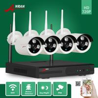 ANRAN CCTV P2P HD 4 8CH Network Wifi NVR 720P Plug Play 3 Array IR Waterproof