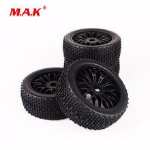4PC/Set 1:8 Scale RC Off-Road Buggy Car Model Tire Tyre & Wheel fit HSP HPI RC Off-Road Racing Car Accessories 1 10 model car accessories rc car parts top alloy intercooler kit 097001 fit 1 10 scale rc model car hpi hsp traxxas