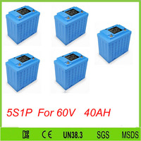 Бесплатная Доставка 5 шт. 5s1p солнечной батареи lifepo4 12 В 40ah аккумуляторная энергии аккумулятора для 60 В 40ah lifepo4 батареи пакет
