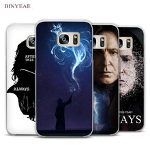 BINYEAE severus snape harry potter Clear Phone Case Cover for Samsung Galaxy Note 2 3 4 5 7 S3 S4 S5 Mini S6 S7 S8 Edge Plus(China)