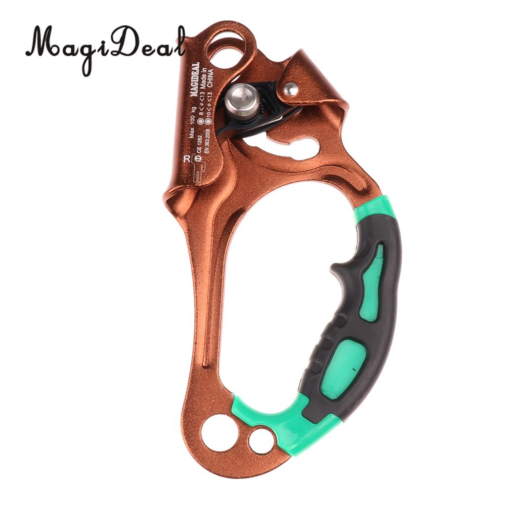 MagiDeal Right Hand Ascender Handheld Riser 8-12mm Rope Mountaineering Rock Climbing Tree Carving Rescue Equipment e0037 right hand ascender professional aerospace aluminum ascenders for outdoor mountaineering rock climbing