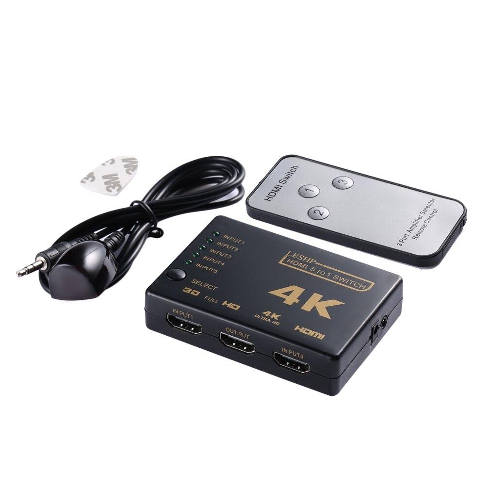 Mini commutateur HDMI 4K HD1080P 3 5 ports HDMI commutateur sélecteur séparateur avec Hub IR télécommande pour HDTV DVD TV BOX Z2