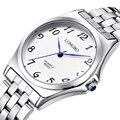 2017 longbo reloj de cuarzo correa de acero relojes de moda casual hombres mujeres de lujo reloj de los pares deportes analógico reloj de pulsera de regalo 80025