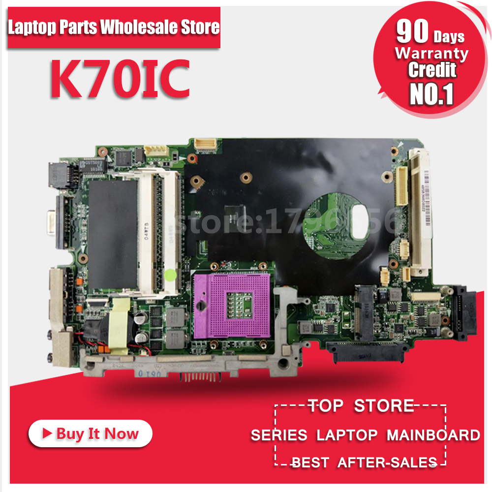 Laptop Motherboard For ASUS K70IC REV2.1 System Board Main Board Mainboard Card Logic Board Tested Well d05021b maine board fittings of a machine tested well original
