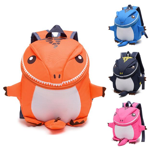 Children's Cute Dinosaur Shaped Backpack