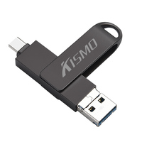 Kismo Type-C Flash Drive Micro USB OTG Memory Disk USB3.0 Pen Drive Voor Samsung S6 S7 S8 S9 a3 A5 A7 2016 2017 Android Telefoons