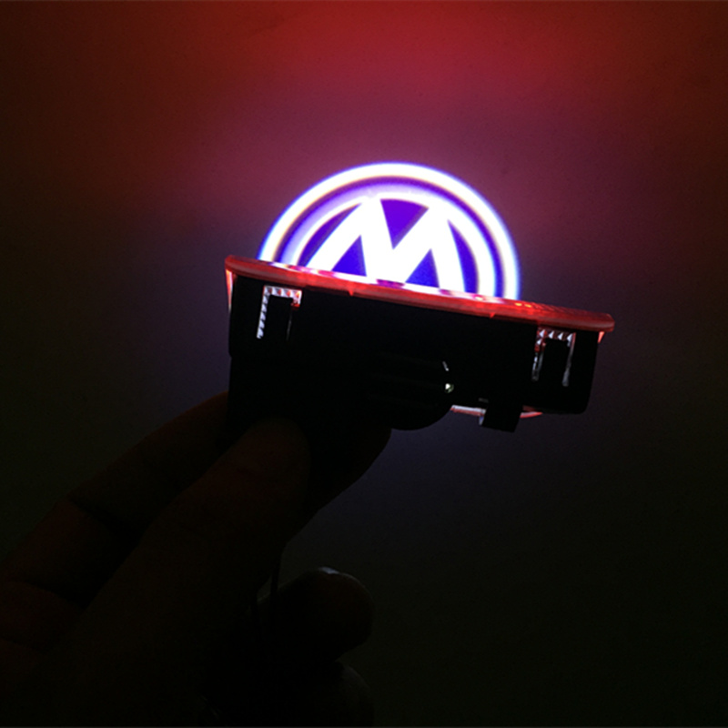 2 X Car LED Logo Light Door Projector Welcome Lights for VW Volkswagen Passat B6 B7 Tiguan Jetta MK5 MK6 CC EOS Golf 5 6 7 2x led car door welcome light logo projector for volkswagen vw golf 5 6 7 tiguan cc jetta mk5 mk6 passat b6 b7 touareg scirocco