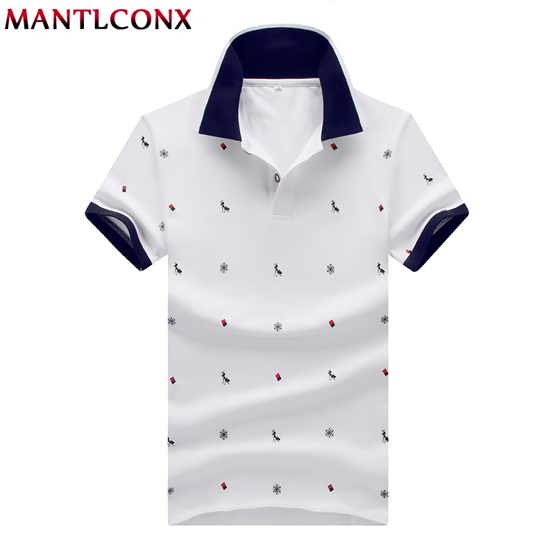 MANTLCONX 2019 New Mens   Polo   Shirt Brands Male Short Sleeve Brand Men   Polo   Shirt Men Summer Short Sleeve   Polos   Shirt White Blue